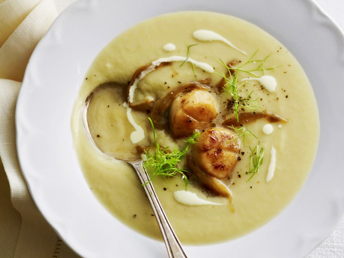 Potato-Soup-with-Scallops